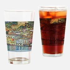 Malcesine on Lake Garda by Gustav K Drinking Glass