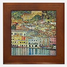 Malcesine on Lake Garda by Gustav Klim Framed Tile