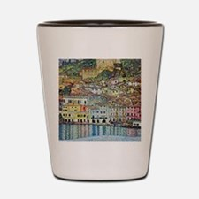 Malcesine on Lake Garda by Gustav Klimt Shot Glass