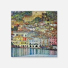 "Malcesine on Lake Garda by Square Sticker 3"" x 3"""