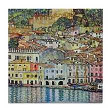 Malcesine on Lake Garda by Gustav Kli Tile Coaster