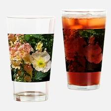White Poppy Drinking Glass