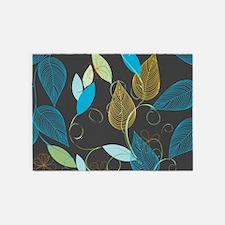 Elegant Leaves 5'x7'Area Rug