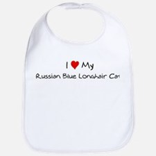 Love My Russian Blue Longhair Bib