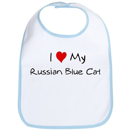 Love My Russian Blue Cat Bib