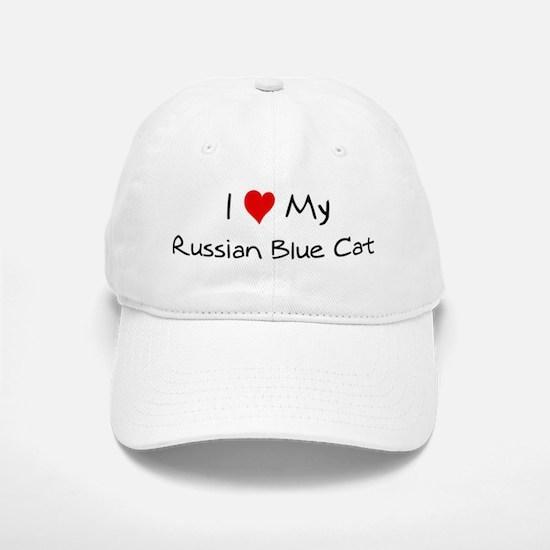 Love My Russian Blue Cat Baseball Baseball Cap
