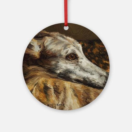 Greyhound Round Ornament