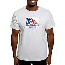 Loving Memory of Junior Ash Grey T-Shirt