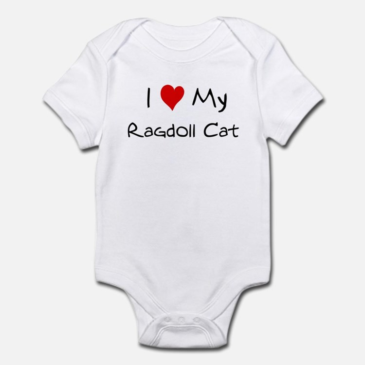Love My Ragdoll Cat Infant Bodysuit