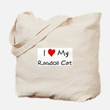 Love My Ragdoll Cat Tote Bag