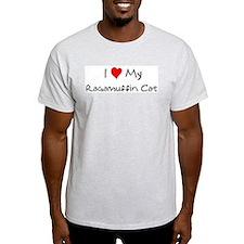 Love My Ragamuffin Cat Ash Grey T-Shirt