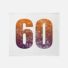 Cool 60th Birthday Throw Blanket