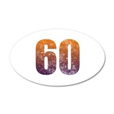 Cool 60th Birthday Wall Decal