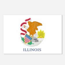 Illinois Flag Postcards (Package of 8)