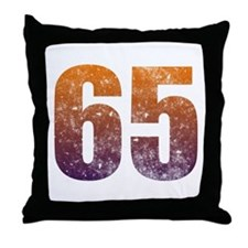 Cool 65th Birthday Section Throw Pillow