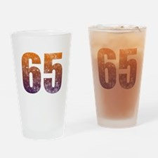 Cool 65th Birthday Section Drinking Glass