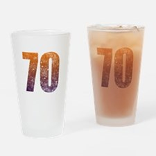 Cool 70th Birthday Drinking Glass