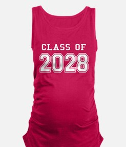 Class of 2028 (White) Maternity Tank Top