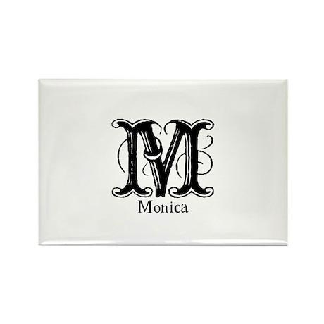 Monica: Fancy Monogram Rectangle Magnet (10 pack)
