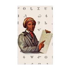 Sequoyah, The Cherokee Scholar Decal