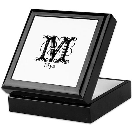Mya: Fancy Monogram Keepsake Box