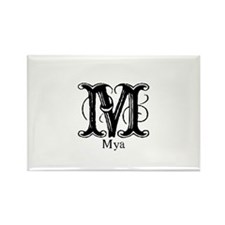 Mya: Fancy Monogram Rectangle Magnet