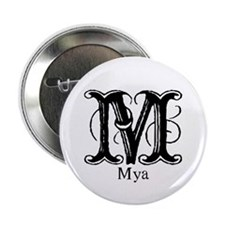 Mya: Fancy Monogram Button