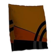 Earthtones Burlap Throw Pillow