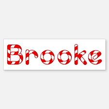Brooke - Candy Cane Bumper Bumper Bumper Sticker
