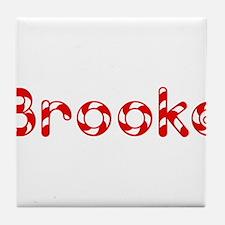 Brooke - Candy Cane Tile Coaster