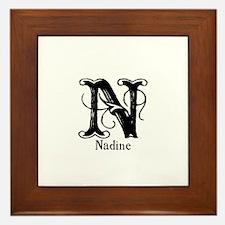 Nadine: Fancy Monogram Framed Tile