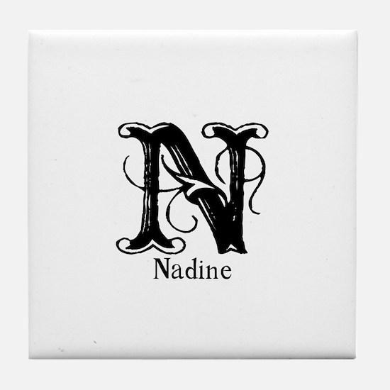 Nadine: Fancy Monogram Tile Coaster