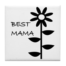 BEST MAMA Tile Coaster