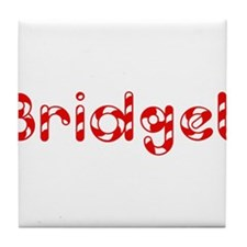 Bridget - Candy Cane Tile Coaster