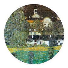 Schloss Kammer By Gustav Klimt Round Car Magnet