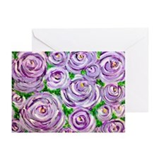 Sparkling Lavender Roses Greeting Cards (Package o