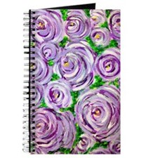 Sparkling Lavender Roses Journal