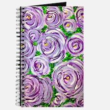 Sparkling Lavender Roses Journal