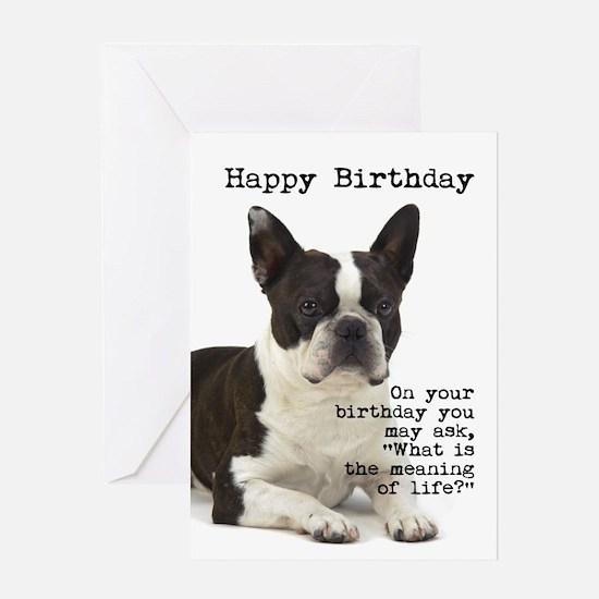Boston Terrier Birthday Card