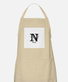Nicole: Fancy Monogram BBQ Apron