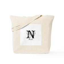 Nicole: Fancy Monogram Tote Bag