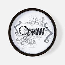 Grunge Crew Wall Clock