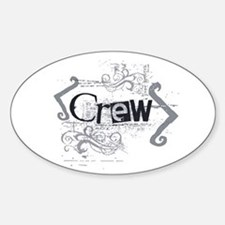 Grunge Crew Oval Decal