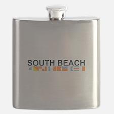 South Beach - Nautical Flags. Flask