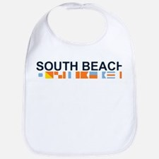 South Beach - Nautical Flags. Bib