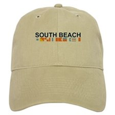 South Beach - Nautical Flags. Baseball Cap