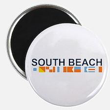 South Beach - Nautical Flags. Magnet