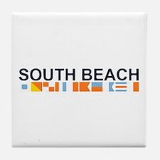 South Beach - Nautical Flags. Tile Coaster