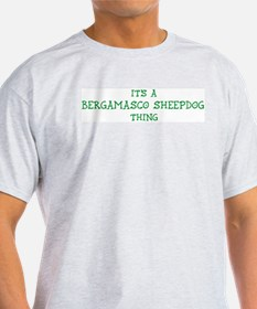Bergamasco Sheepdog thing Ash Grey T-Shirt
