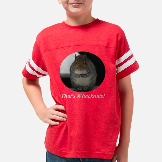 whacknutswhite Youth Football Shirt